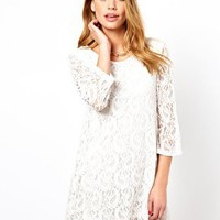 Micro Mini Swing Dress In Lace