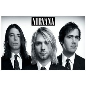Nirvana - Look Sharp! - Band Portrait - Cobain Grohl Novoselic 11x17 Poster