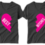 Valentines Day best bitches friends Funny Womans T-Shirts (2)