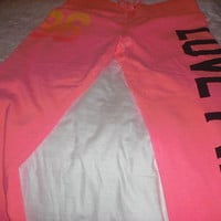 Victoria's Secret sweat pants size lg from pink collection (New) orange
