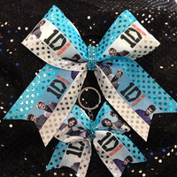 1D One Direction Cheer/Dance Bow Ribbon &amp; Matching Keychain
