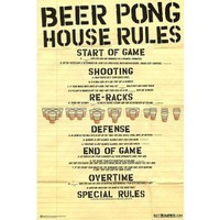 Amazon.com: Beer Pong House Rule 24x36 Poster Print Poster Print, 24x36 Poster Print, 24x36: Home &amp; Kitchen