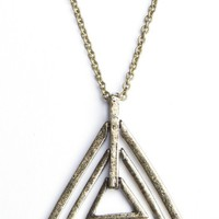 Triple Triangle Charm Necklace