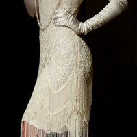 The Charleston Cream Bone: 1920&#x27;s Flapper Dress
