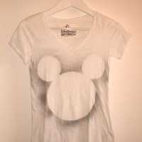 White Maxi T Shirt Grey Mikey Mouse.. on Luulla