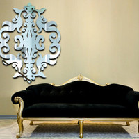 Baroque Damask Resin Wall Mirror, acrylic wall mirrors | Dezign With a Z wall decor