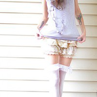 Cream Lace Fawn Knickers