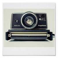 Amazon.com: Vintage Polaroid Camera 3 Print: Home & Kitchen