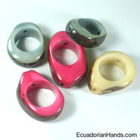 Seed with Big Hole Tagua Bead | Tagua Bead for Beading Jewelry: Nuts | EcuadorianHands.com
