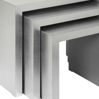 Z Gallerie - Astair Nesting Tables - Silver