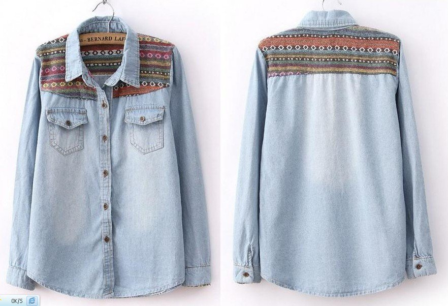 Vintage Blue Denim Shirt on Luulla