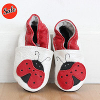 EBOOBA Childrens Ladybird Leather Shoes | Mora Approved