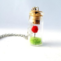 Terrarium Lorax Necklace, Red Pom .. on Luulla