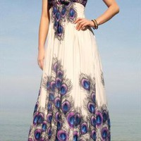 Asian Peacock Bohemian Party Evening Long Maxi Dress | midress | ASOS Marketplace