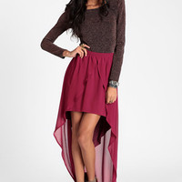 Raspberry Cascade High-Low Skirt By Lucca Couture - $64.00 : ThreadSence, Women's Indie & Bohemian Clothing, Dresses, & Accessories