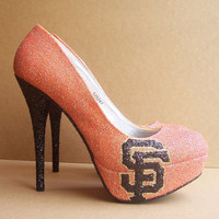 Orange San Francisco Giants High Heels by TattooedMary on Etsy