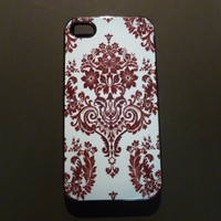 Hard iPhone Case Vintage Pattern Custom by CreateItYourWay on Etsy