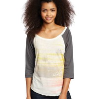 Roxy Juniors Seastone Baseball Raglan Tee
