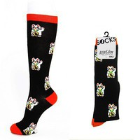 Women's Socks-Lucky Cat