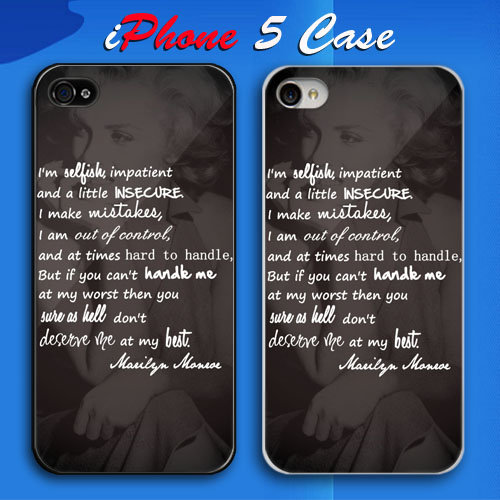 Iphone 5 Cases Marilyn Monroe Quotes Iphone 5 Cases Marilyn Monroe