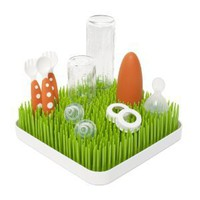 Boon Grass Countertop Drying Rack Spring Green and White: Baby