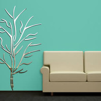 Dancing Branch Tree acrylic mirrors, acrylic wall mirrors | Dezign With a Z wall decor