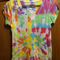 Tie Dyed Tee Shirt by wilDandwackYuniversE on Etsy