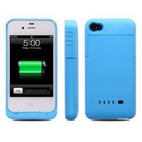 Amazon.com: ipower i-power iphone 4 / 4s External Rechargeable Spare Backup Extended 1900 mAh Battery Charger Pack Case Cover for Apple iphone 4s (Blue): Home & Kitchen