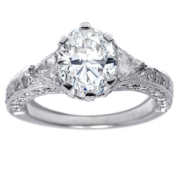 Engagement Ring Oval Diamond Vintage from MDC Diamonds