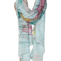 Map Print Scarf - New In This Week - New In - Topshop