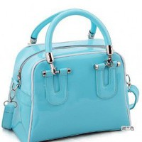 Wholesale Fashion Lady&#x27;s Dual-use Large Capacity Handbag Lake Blue