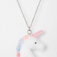 Urban Outfitters - Urban Renewal Fuzzy Unicorn Necklace