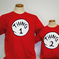 THING 1 THING 2 T SHIRT ALL SIZES ON SALE & FREE SHIP..