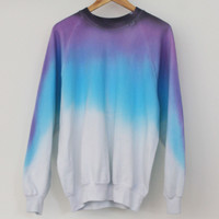 ANDCLOTHING — Lavender Night Sky Dip Dye Sweater <em>SOLD OUT</em>
