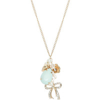 Opaque Teardrop Charm Necklace | Shop Accessories at Wet Seal
