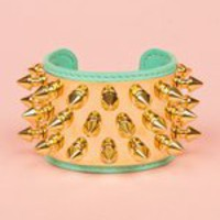 OPENING CEREMONY AURELIE BIDERMANN &quot;CAMDEN&quot; 3-ROW CUFF - TURQUOISE/GOLD - BR004-MGLT 