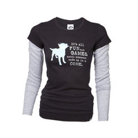Dog is Good: All Fun And Games LS Tee Navy, at 34% off!