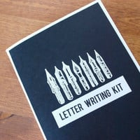 black letter writing kit: envelopes, writing paper, washi tape, mail art