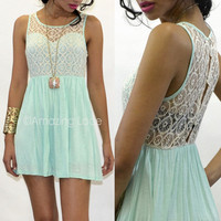 Pretty Mint Dress Croche...