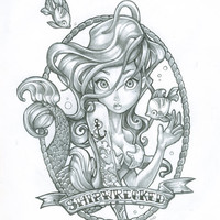 ORIGINAL SKETCH SIREN by TimShumate on Etsy