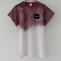 ANDCLOTHING — Burgundy Fuse Dip Dye Tee <em>COMING SOON</em>