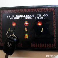 THREE HOOK Legend Of Zelda Inspired Key Hanger - It's Dangerous Link