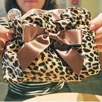 Fashion Leopard Grain Cosmetic Bag&.. on Luulla