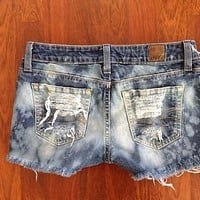 distressed jean shorts