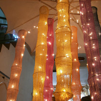 Oriental Cotton Hanging lights for wedding and home decoration indoor and outdoor