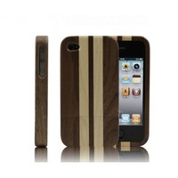 Eco-friendly Striped Wood iPhone 4 / 4s Protective Hard Case