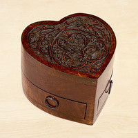 Espresso Helena Heart Jewelry Box with Drawers | Jewelry| Accessories | World Market