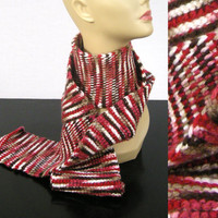 Tunisian Crochet Scarf of Knowledge by NikisKnerdyKnitting on Etsy