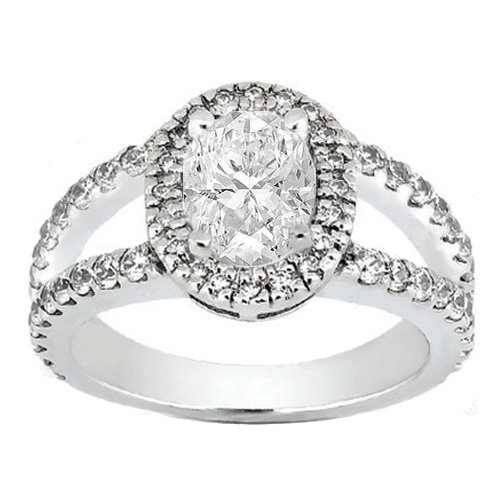 Engagement Ring Oval Diamond Halo from MDC Diamonds