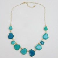 Teal Geo Necklace - Buy From ShopDesignSpark.com